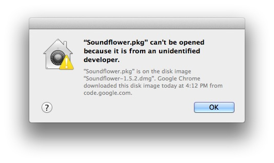 Soundflower.pkg can't be opened because it is from an unidentified developer