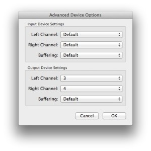 linein settings advanced