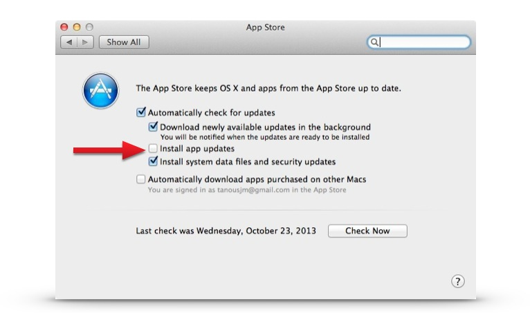 os_x_mavericks_disable_auto_updates