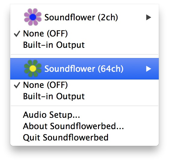 soundflower setup